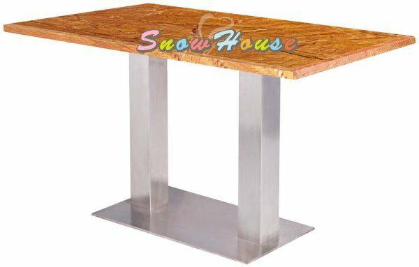╭☆雪之屋居家生活館☆╯1014-03/06 111不鏽鋼腳2公分石面餐桌/飯桌