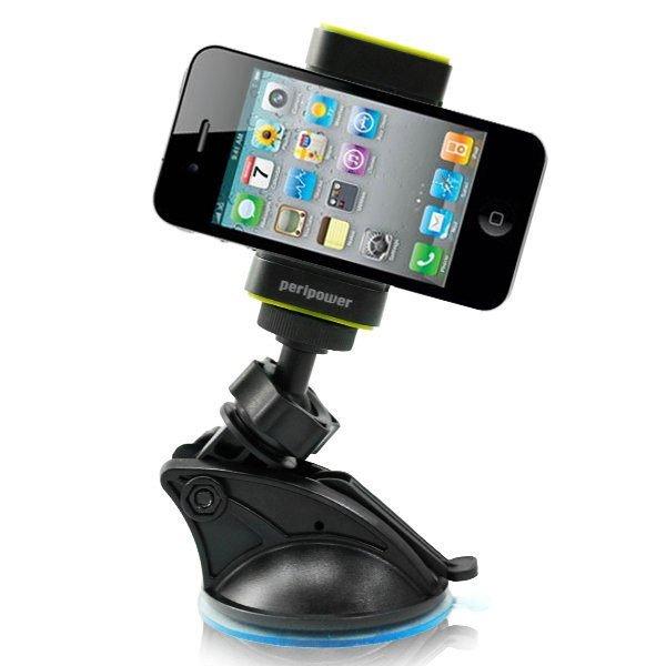 權世界@汽車用品 PeriPower 手機/行車記錄器 兩用型 手機架 行動電話架 車架 (香草綠)