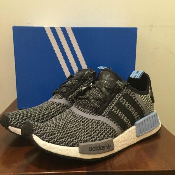 【蟹老闆】ADIDAS NMD 灰藍條紋 編織 休閒運動鞋 少量現貨