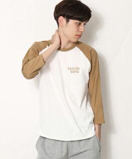7分袖印花T恤BWHITE×CAMEL