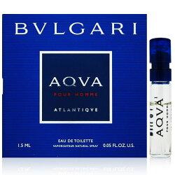 【凱希恩香水美妝】BVLGARI寶格麗 勁藍水能量男性淡香水 針管1.5ml