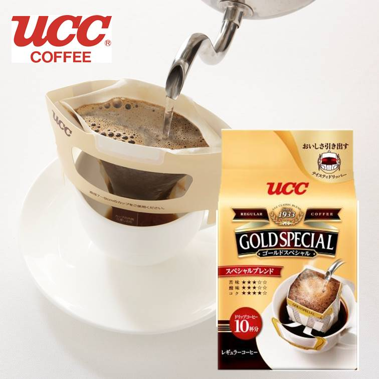 【UCC】Gold Special 濾式濾掛咖啡-特調 10杯分 80g 黃金滴漏咖啡 咖啡粉 黑咖啡 日本原裝進口
