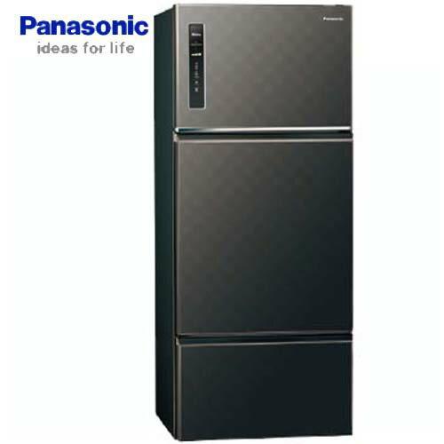 Panasonic 國際 NR-C489TV-K  星空黑  481L 三門冰箱ECONAVI 智慧節能科技 無邊框鋼板系列 變頻 新1級能源效率 Ag銀除菌 - 限時優惠好康折扣