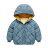 兒童菱格連帽鋪棉外套 厚外套 長袖外套 連帽外套 中性款 羽絨外套 保暖 外套 女童 男童 橘魔法【p0061198612971】 1