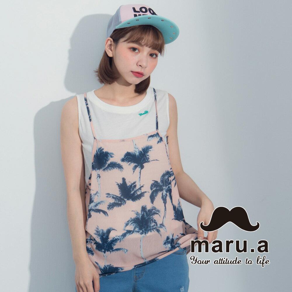 【maru.a】夏日椰子樹兩件式背心7323121 4