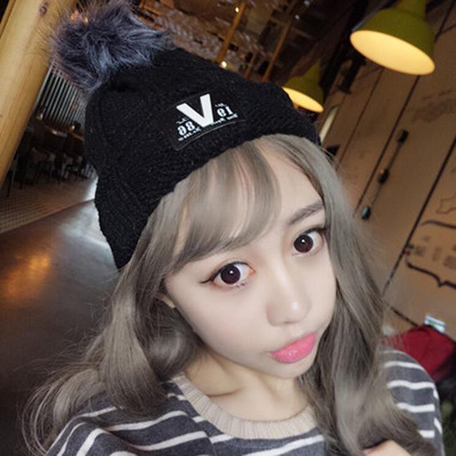 50%OFF SHOP【E021281WH】2016秋冬季新款貼標針織帽子女加厚保暖毛球帽女士韓版毛線帽