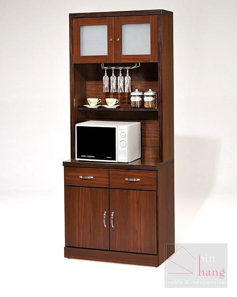 【尚品家具】GF-K02 木芯板胡桃3尺餐櫃下座~另有4尺餐櫃/收納櫃/碗盤櫥櫃