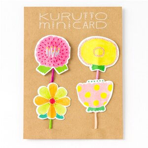 日本 Iroha 禮物包裝小卡 - 花朵祝福
