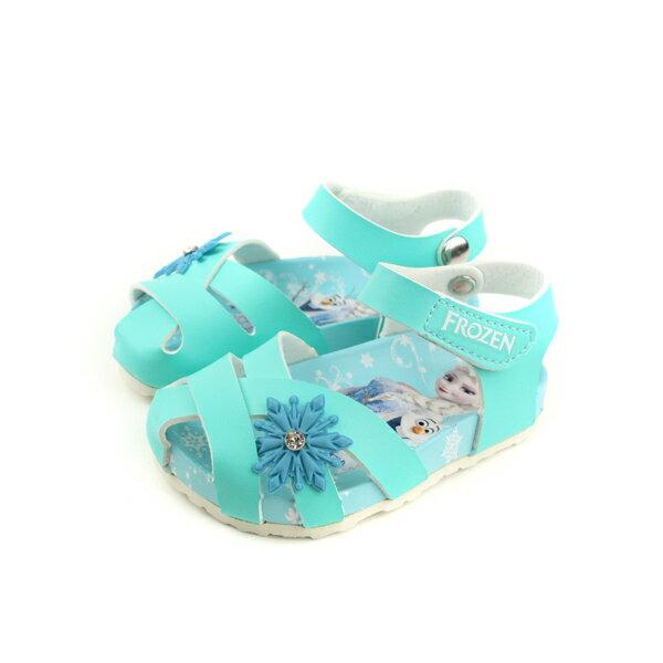 Frozen冰雪奇緣涼鞋童鞋薄荷綠中童FOKT84185no633