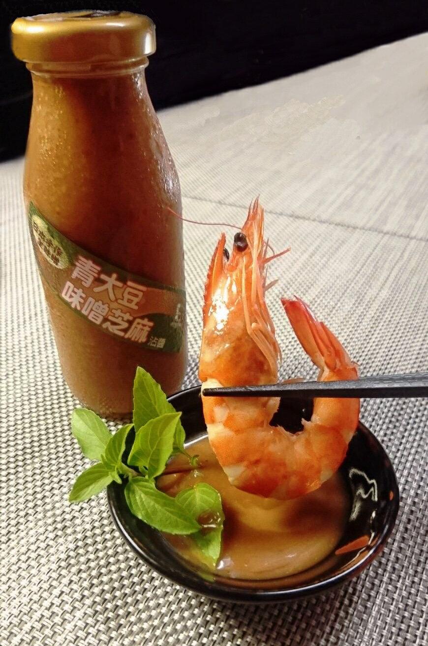 日本青大豆味噌芝麻沾醬(單罐) 內容量:200ml(單罐)