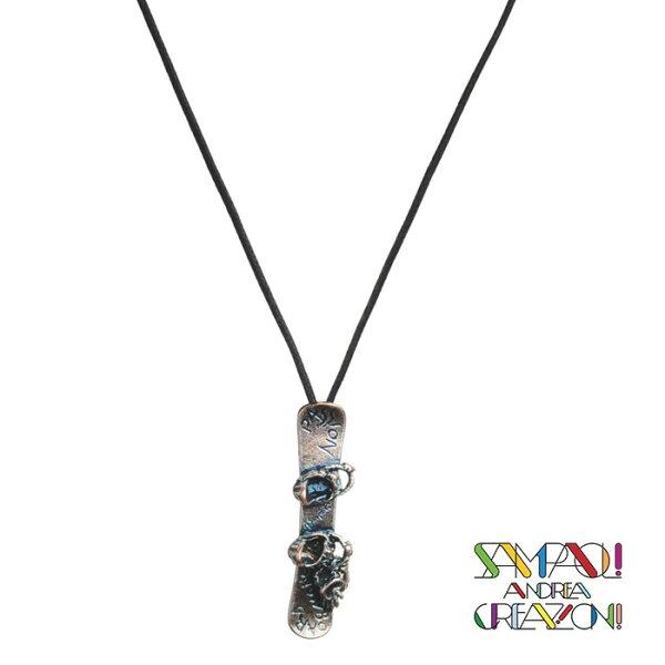 【SAC義大利】鍍銀項鍊-滑雪板義大利傳統飾品工藝/SAC04