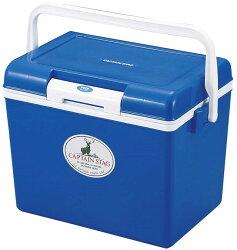 【【蘋果戶外】】Captain Stag M-8175 14L野餐輕便冰桶 日本鹿牌 行動冰箱/保鮮桶/保冷保冰 附背帶、可手提攜帶 藍色