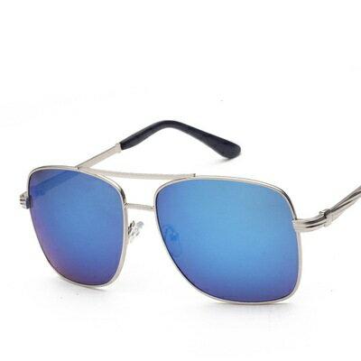 ~太陽眼鏡偏光墨鏡~簡約方形金屬邊框男女眼鏡 4色73en31~ ~~米蘭 ~