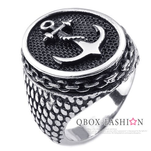 ~ QBOX ~FASHION 飾品~W10025237~精緻 蛇紋船錨海錨鑄造316L鈦
