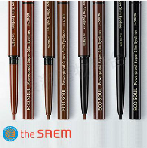 韓國 the SAEM Eco Soul 超防水電眼眼線筆-0.8ml Eco Soul Powerproof Super Slim Eyeliner【辰湘國際】