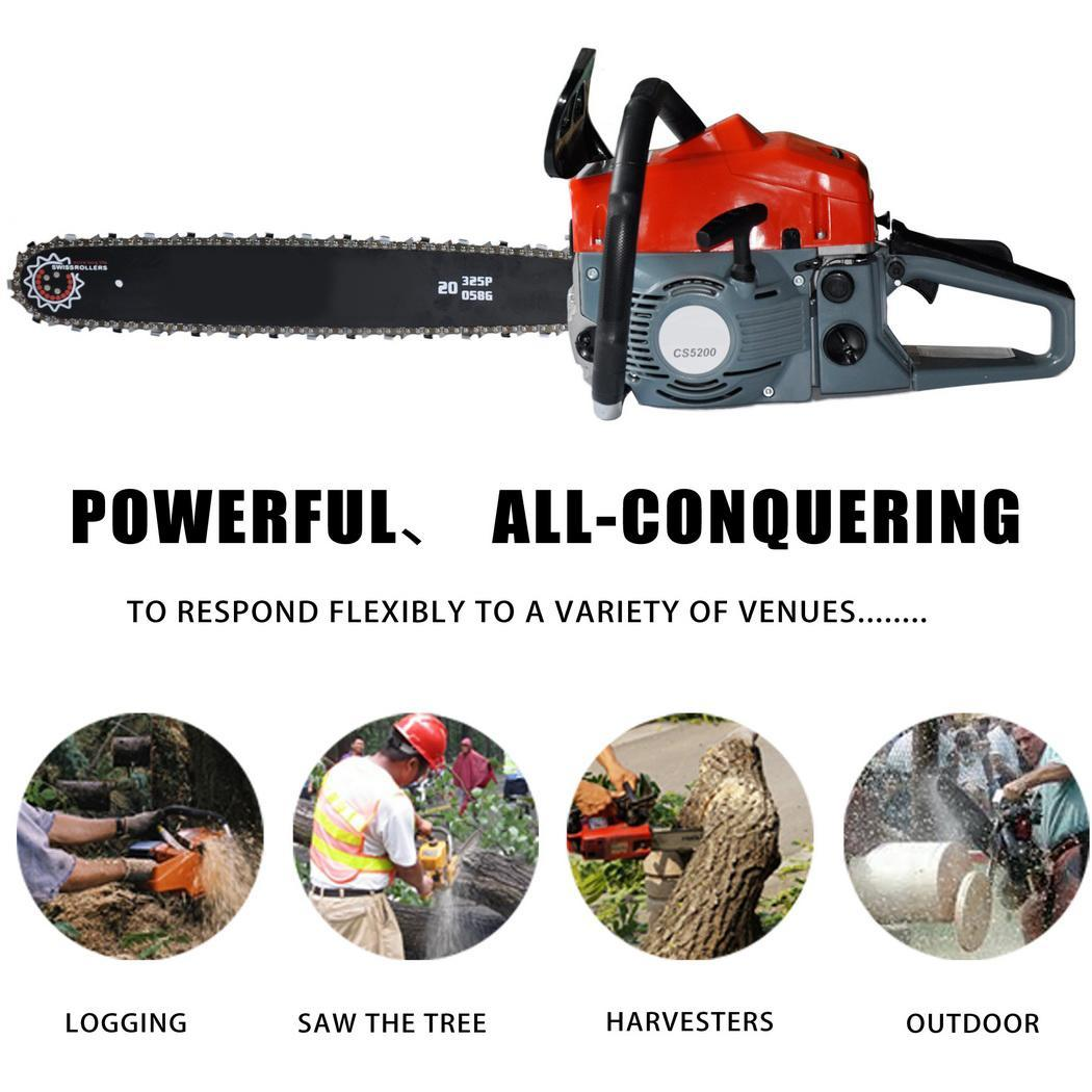 2 Stroke 52cc 20inch Saw Blade Petrol Chainsaw Outdoor Garden Yard Use with Tool Kit 3