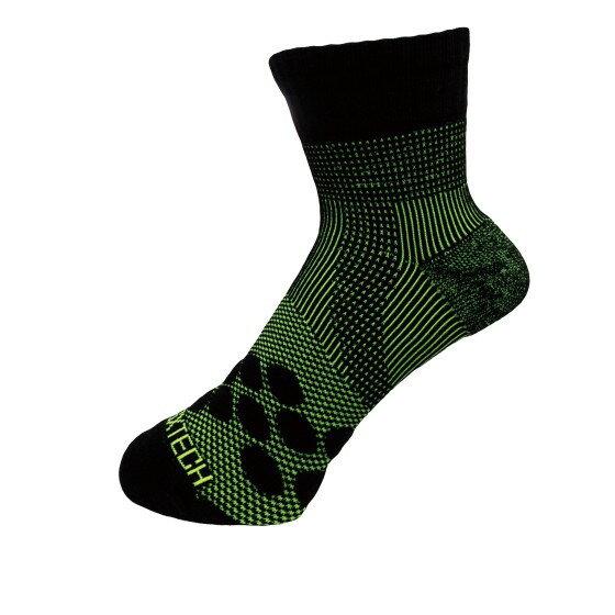 新澄生活MotionJet EGXTech P83 中筒多功8字繃帶運動襪AIR 黑綠(四款尺寸可選)