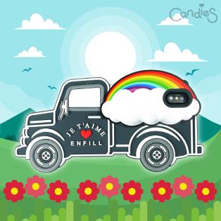FENICE:【Candies】立體繽紛卡車手機殼(Rainbow)-IPhoneX