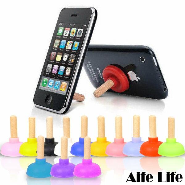 【aife life】 吸附通樂式馬桶塞馬桶吸盤手機架/kuso手機造型有趣吸力強,iPhone4SHTCS3可用喔