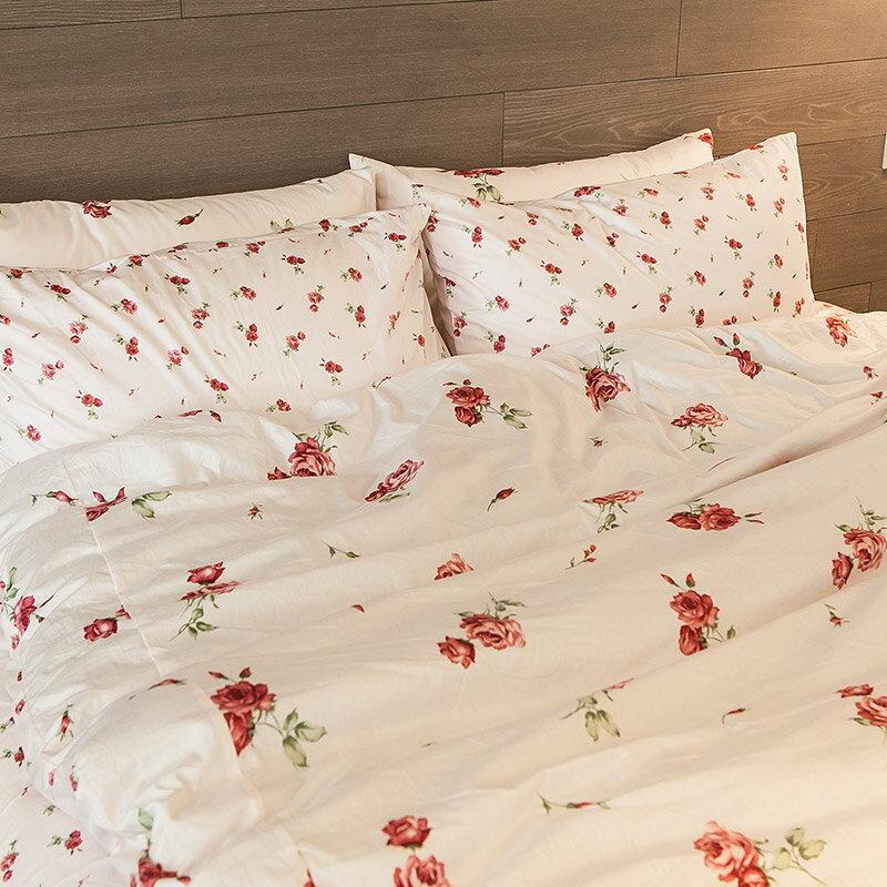 床包被套組  /  雙人- 100%精梳棉【玫果雪酪-兩色】含兩件枕套 在巴黎遇見系列 浪漫碎花 戀家小舖 台灣製 3