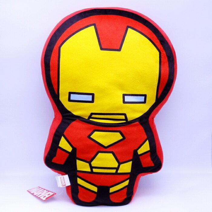【UNIPRO】Marvel 鋼鐵人 IRON MAN Q版造型 抱枕 靠背枕 美國隊長3 英雄內戰 漫威正版授權