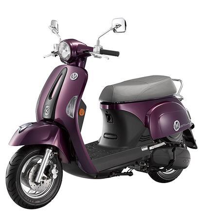 【KYMCO光陽】MANY美女 110施華特飾版 (2017年新車) SE22BJ-亮紫/薄荷綠 /珍珠白