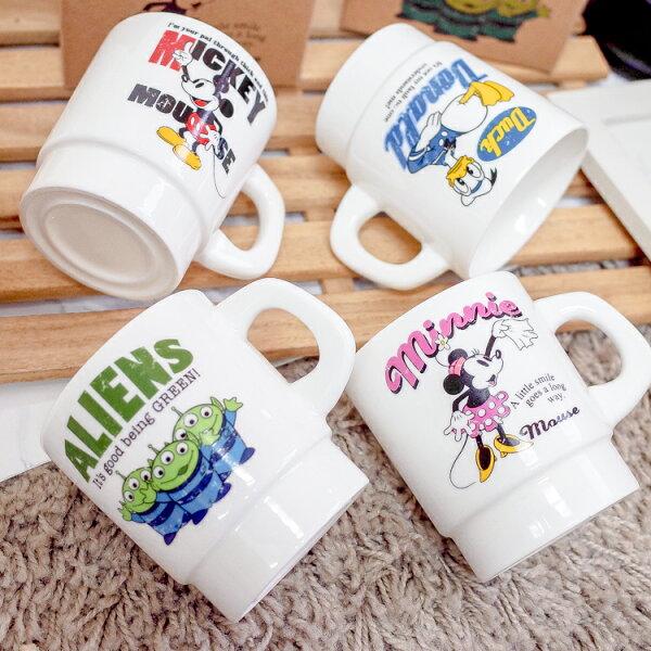 PGS7日本迪士尼系列商品-日貨迪士尼美式懷舊風格馬克杯米奇唐老鴨三眼怪【SEZ71548】