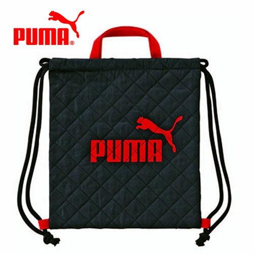 紅黑款【日本正版】日本製 PUMA 束口後背包 後背包 束口袋 手提設計 - 130151