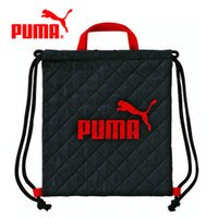 PUMA運動品牌推薦PUMA運動鞋/慢跑鞋/外套推薦到紅黑款【日本正版】日本製 PUMA 束口後背包 後背包 束口袋 手提設計 - 130151