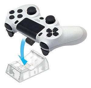 [刷卡價] (現貨)HORI PS4-057 手把充電底座 透明