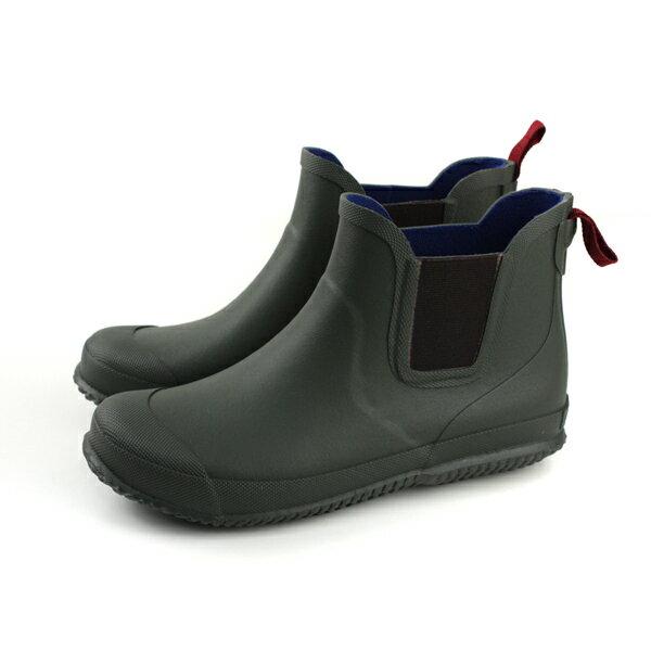 Moonstar雨靴雨鞋膠底防滑防水墨綠色大童MSRBL01R3no151