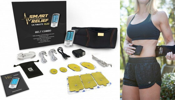 Smart Relief TENS Unit Electro-Therapy Massager Belt Combo 1