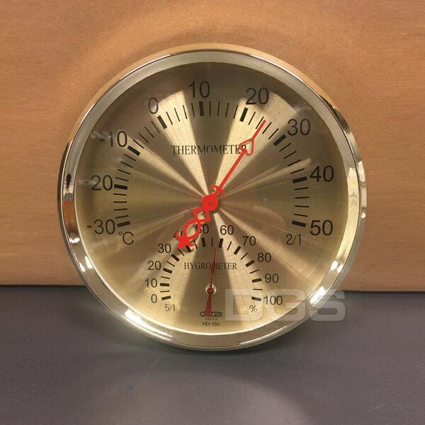 《CRECER》溫溼度計金15cm