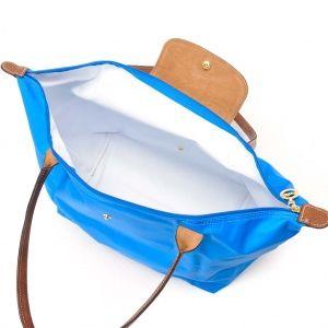 [長柄M號]國外Outlet代購正品 法國巴黎 Longchamp [1899-M號] 長柄 購物袋防水尼龍手提肩背水餃包 佛青藍 3