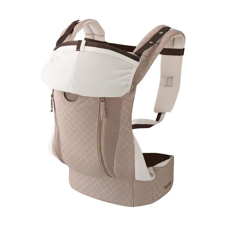 Aprica愛普力卡 - Colan Hug Luxe 上品首選設計款 黃金比例分壓腰袋型揹巾 (格紋米 ) - 限時優惠好康折扣