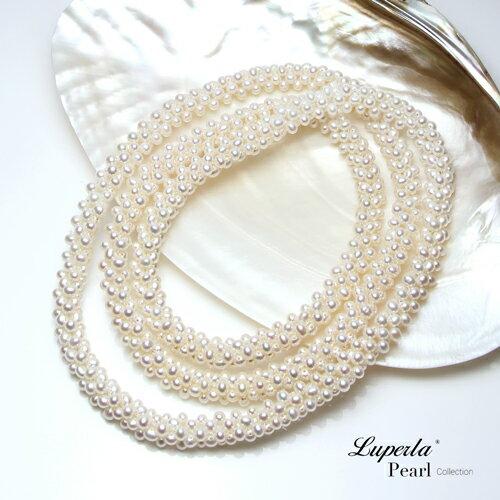 大東山珠寶 法式優雅 天然珍珠項鍊 歐美古典編織珠寶 3