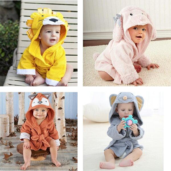 動物造型寶寶浴袍 連帽兒童浴巾 HS11801 好娃娃