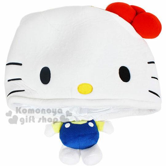 〔小禮堂〕Hello Kitty 絨毛造型帽《白.大臉》秋冬.禦寒小物