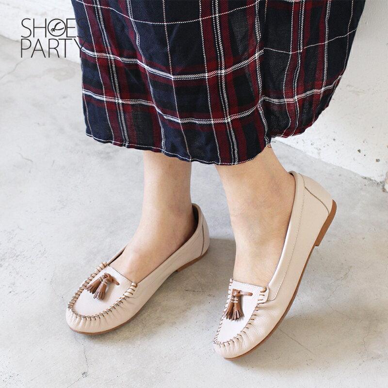 【C2-18113L】雙流蘇荔枝紋牛皮莫卡辛_Shoes Party 2