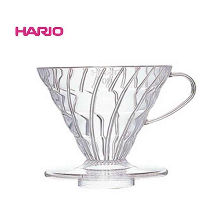 ~✬啡苑雅號✬~日本Hario V60 02樹脂錐型濾杯1-4杯 VD-02T 螺旋濾杯透明 手沖濾杯 咖啡壺 咖啡濾器
