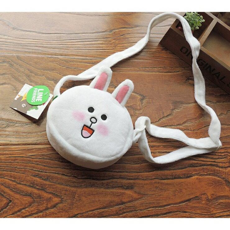 【現貨】linefriends 兒童最愛絨毛零錢包側背包 熊大莎莉兔兔 桃樂絲奇幻衣櫥