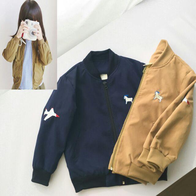 秋款 男童女童 飛機刺繡夾克外套 棒球外套 桃樂絲奇幻衣櫥