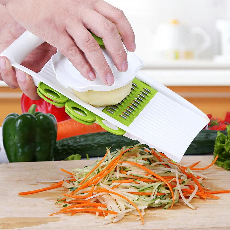 切絲器│蔬果刨絲器多功能六合一 削皮器 刨絲刀 廚房用品 切菜器