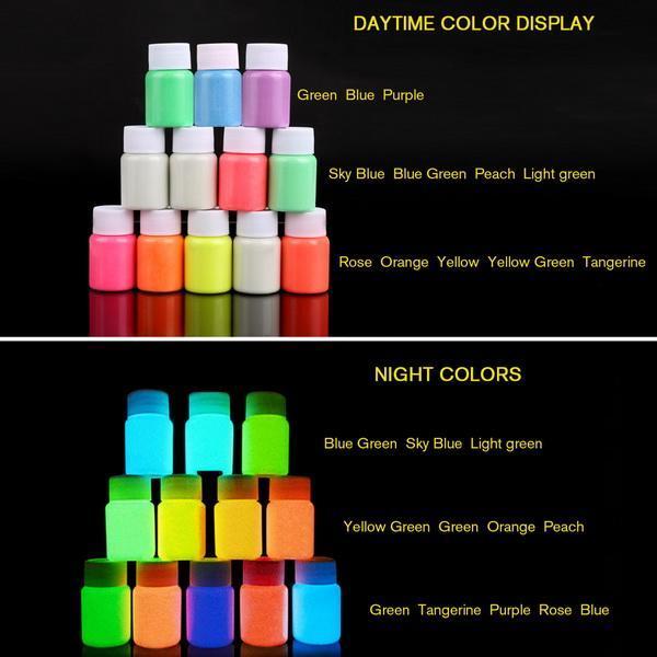 UV Glow Neon Body Paint Pigment 20ml and Fluorescent Super Bright 0