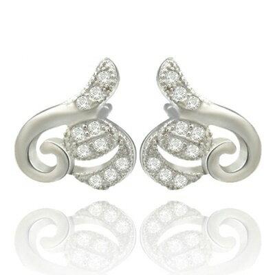 ~925純銀耳環鑲鑽耳飾~大方 簡潔亮眼生日情人節 女飾品73dm23~ ~~米蘭 ~