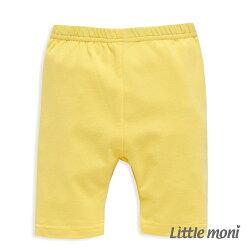 Little moni 亮彩leggings五分褲 - 黃色