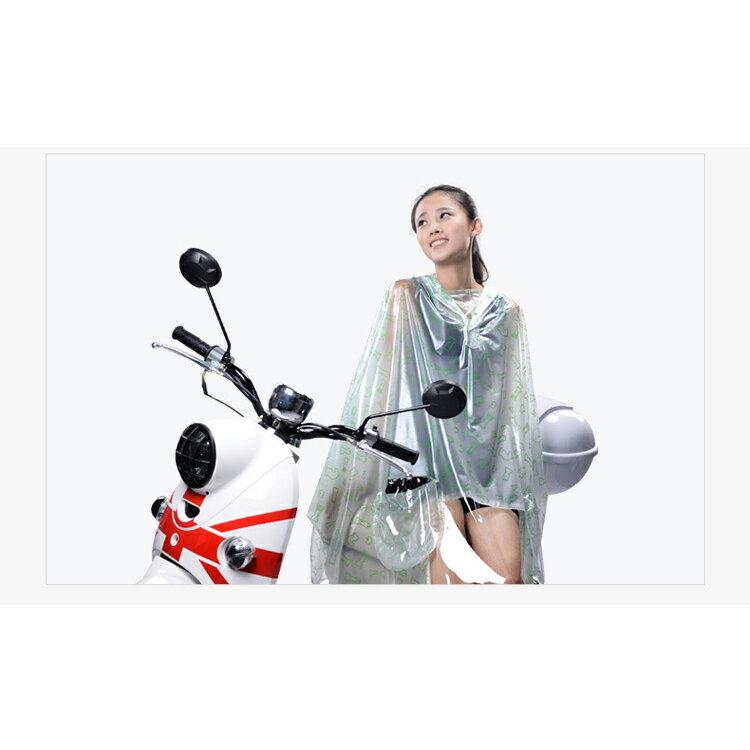 雨衣 印花透明鏡套成人雨衣/摩托車雨衣【EL0007】 BOBI  10/06 1