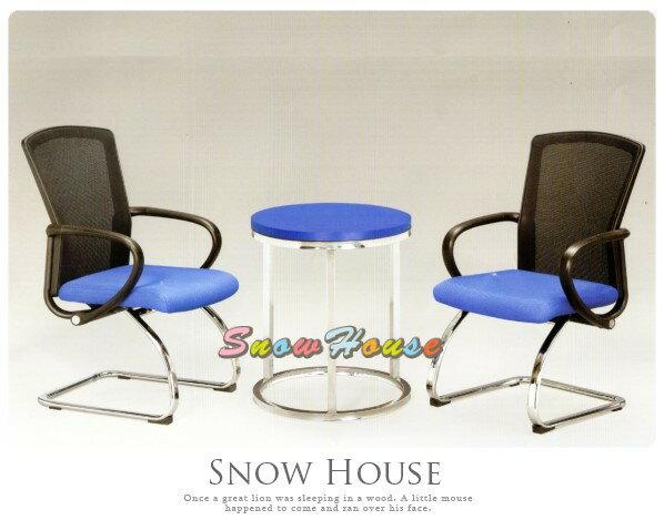 ╭☆雪之屋居家生活館☆╯AA324-02YS-772C電鍍腳黑網背造型椅(藍布墊)(單張)辦公椅洽談椅(不含桌子)