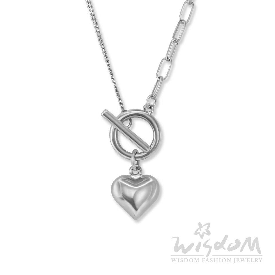 威世登時尚珠寶-心型OT扣銀小套鍊 韓風款 SB00252-AIDX