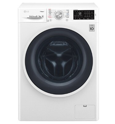 LG 9公斤 6 Motion DD直驅變頻 蒸氣滾筒洗脫烘衣機 WD-S90TCW ( 典雅白 )